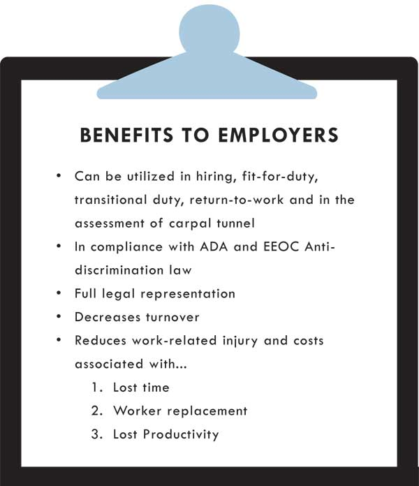 Physical Therapy Specialists Benefits to Employers